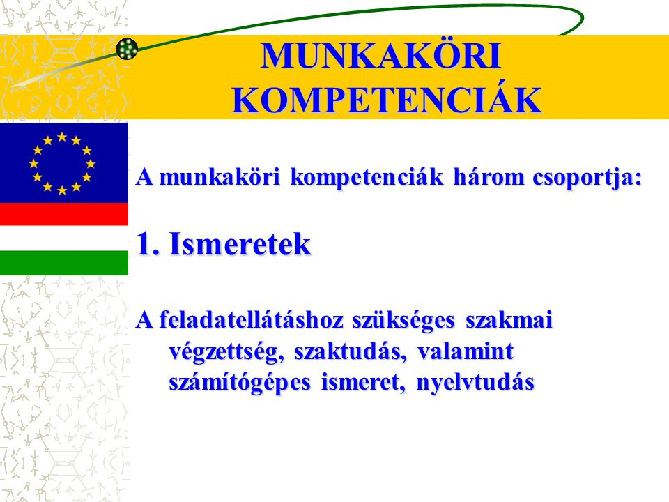MUNKAKÖRI KOMPETENCIÁK