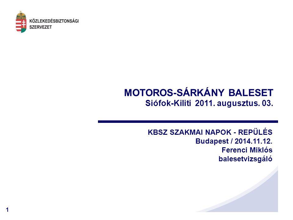 MOTOROS-SÁRKÁNY BALESET