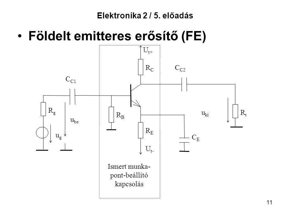 Földelt emitteres erősítő (FE)
