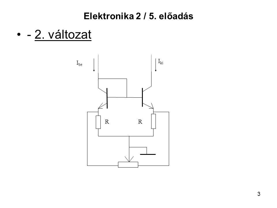 Elektronika 2 / 5. előadás - 2. változat Ibe Iki R