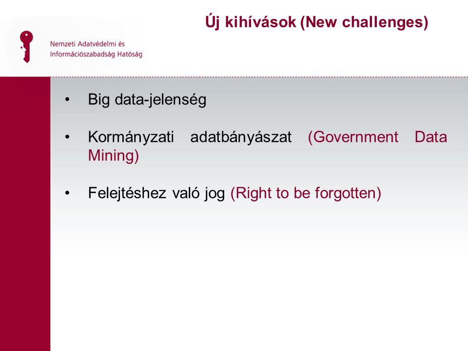 Új kihívások (New challenges)