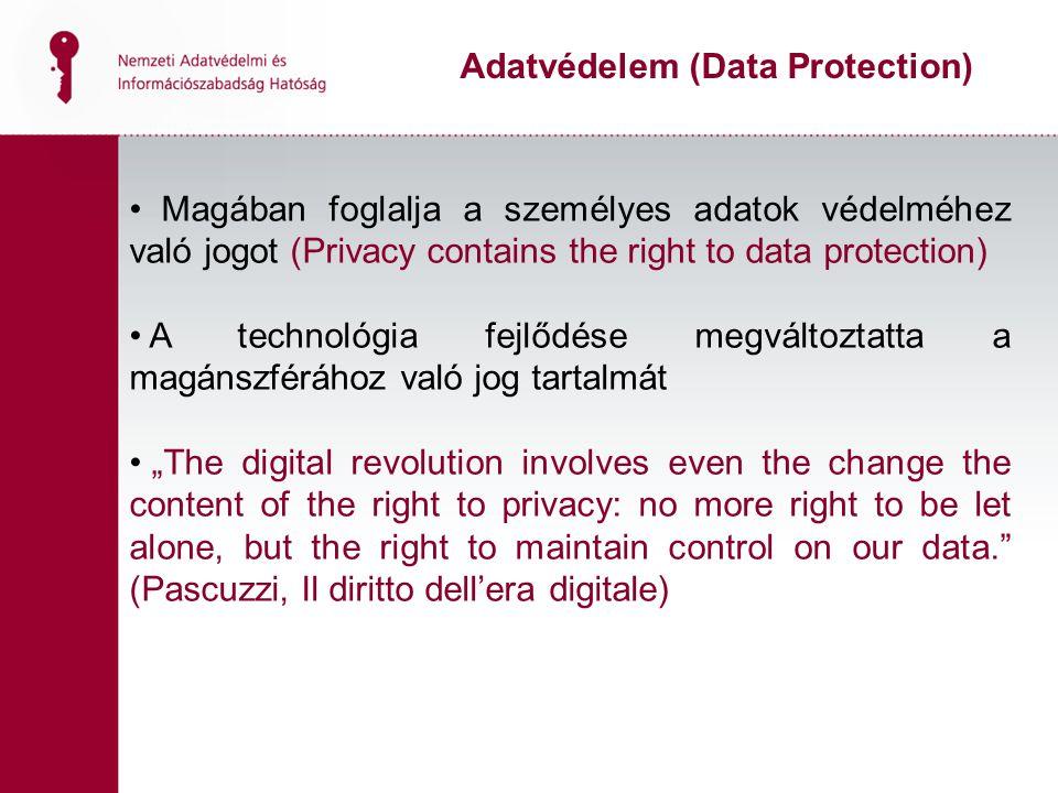 Adatvédelem (Data Protection)