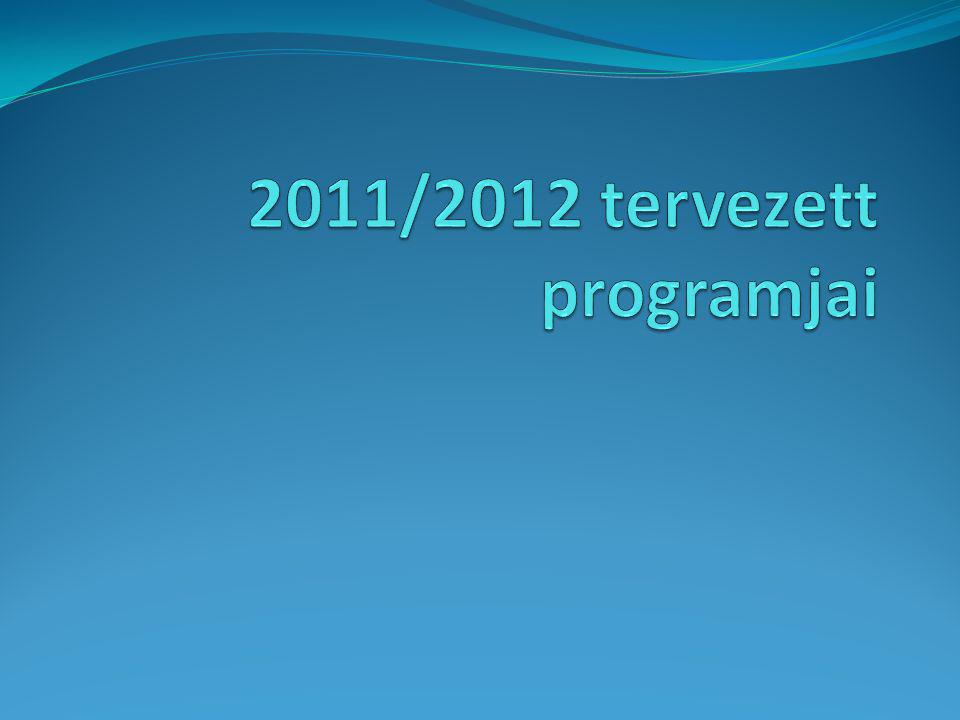 2011/2012 tervezett programjai