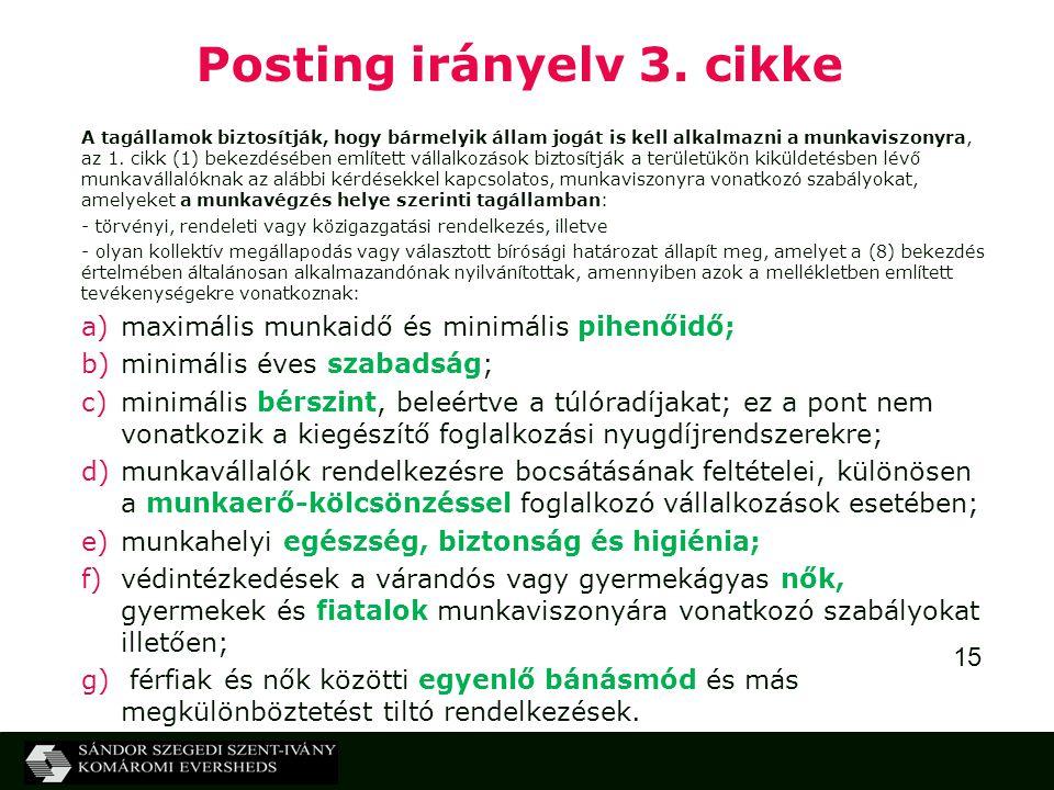 Posting irányelv 3. cikke