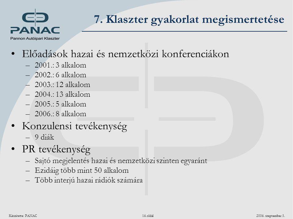 7. Klaszter gyakorlat megismertetése