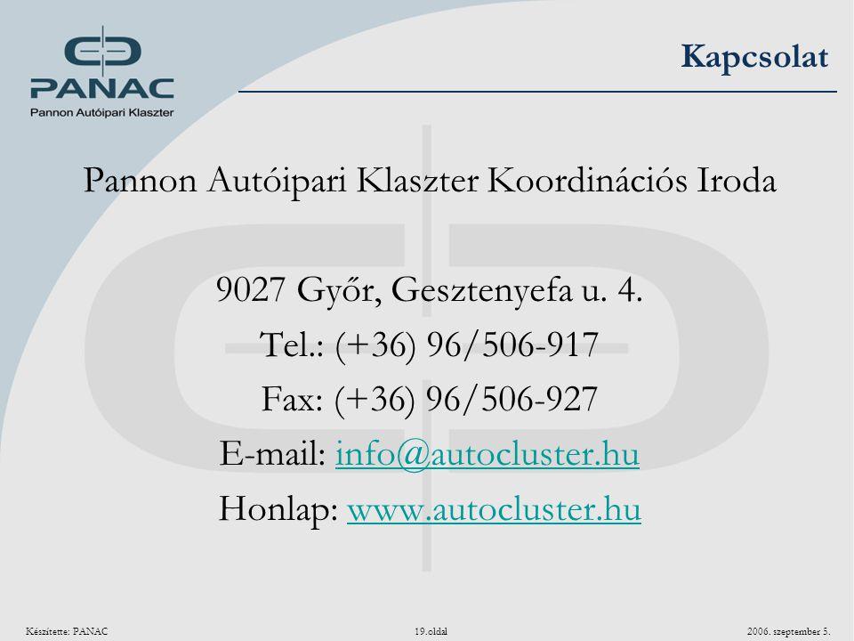 Pannon Autóipari Klaszter Koordinációs Iroda