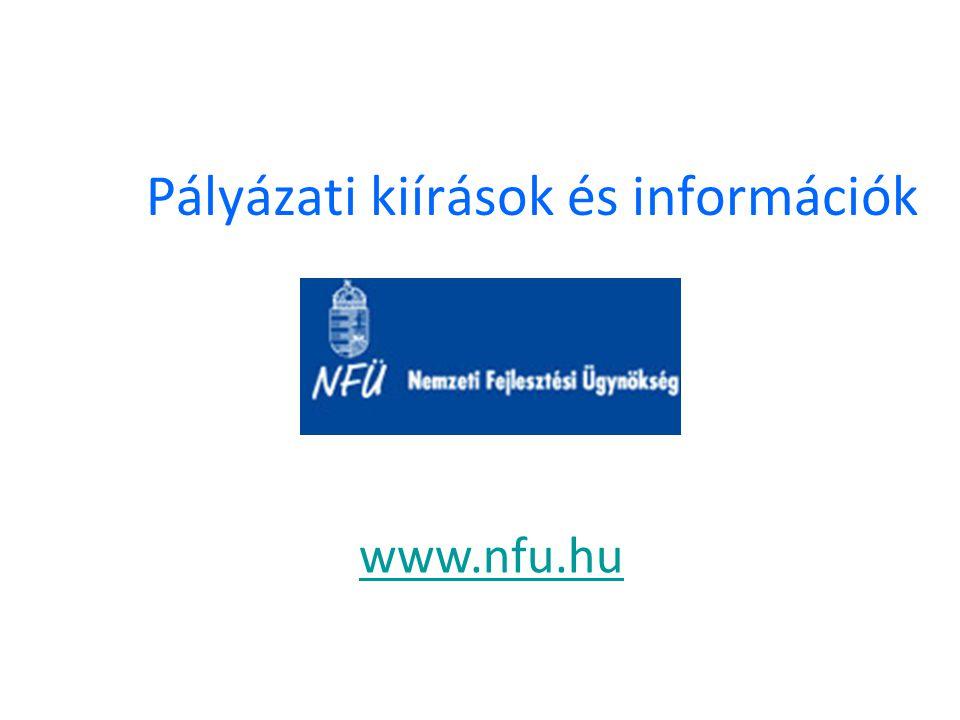 Pályázati kiírások és információk