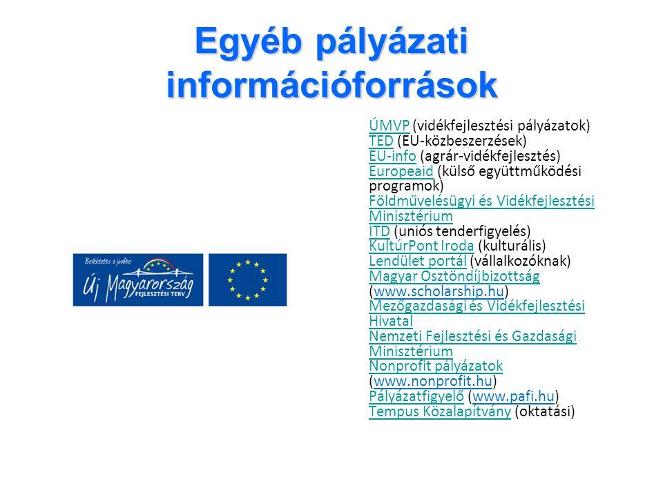 Egyéb pályázati információforrások