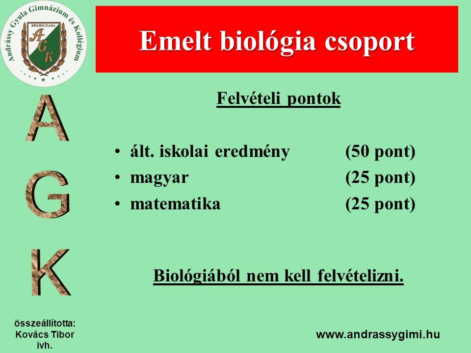 Emelt biológia csoport