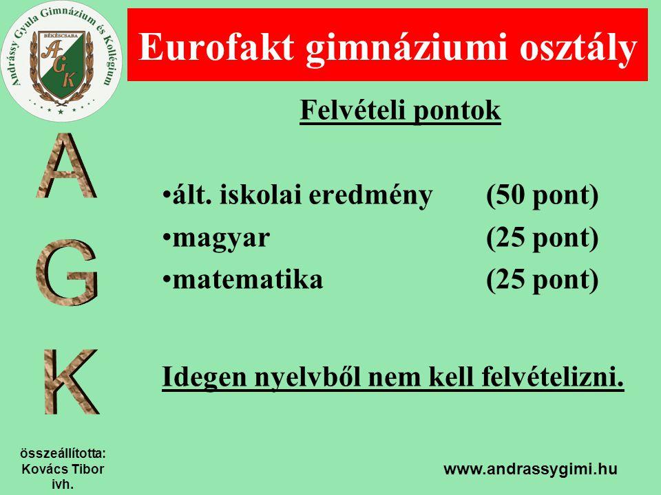 Eurofakt gimnáziumi osztály
