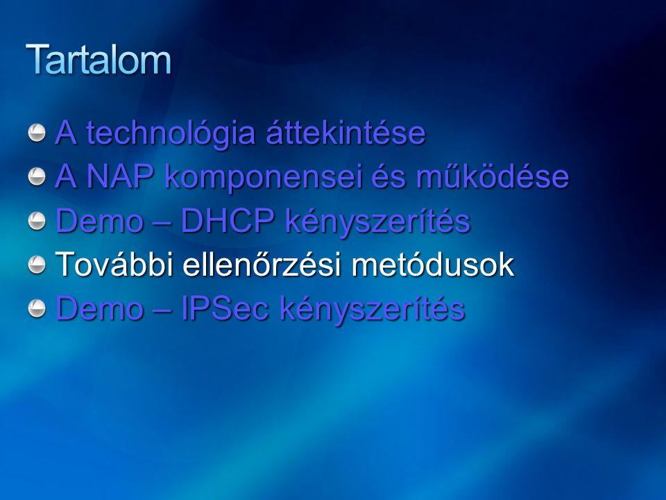 Tartalom A technológia áttekintése A NAP komponensei és működése