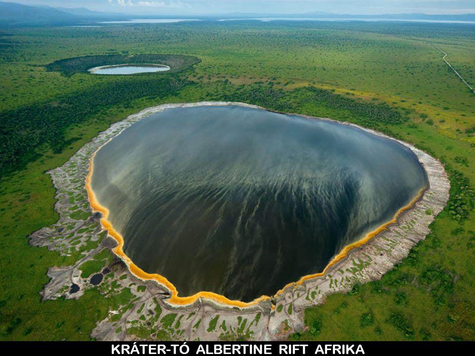 KRÁTER-TÓ ALBERTINE RIFT AFRIKA