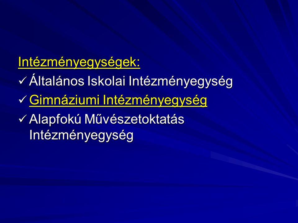 Intézményegységek: Általános Iskolai Intézményegység.
