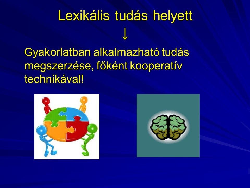 Lexikális tudás helyett ↓