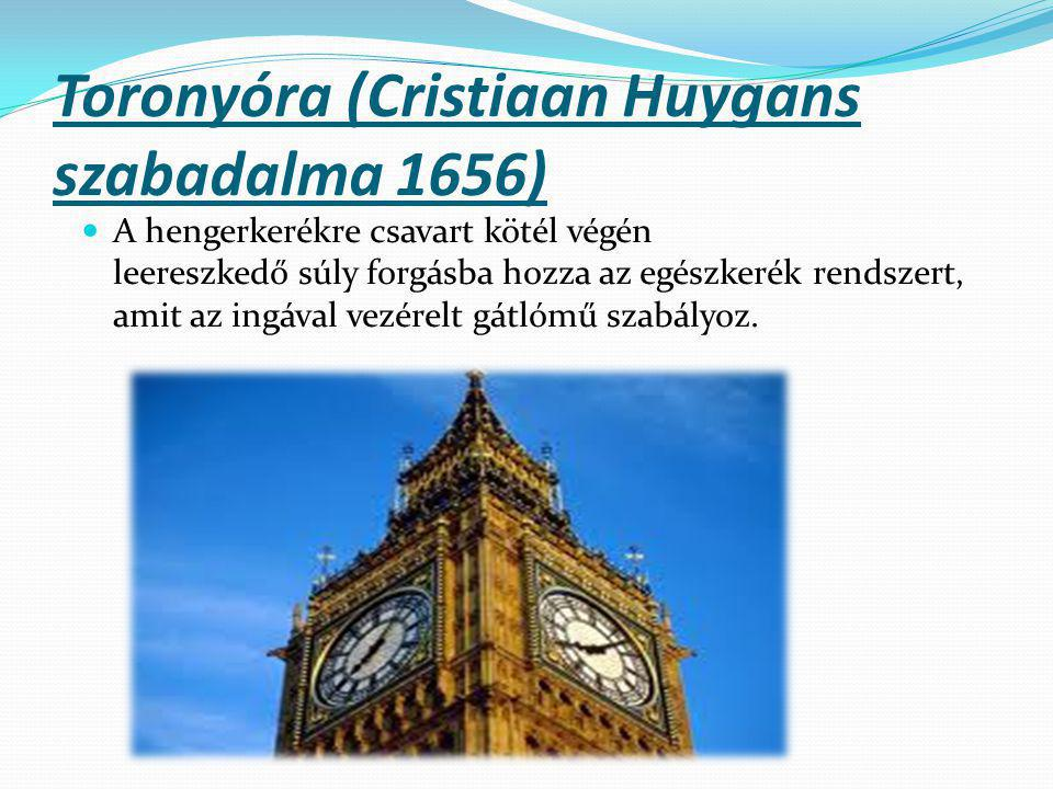 Toronyóra (Cristiaan Huygans szabadalma 1656)