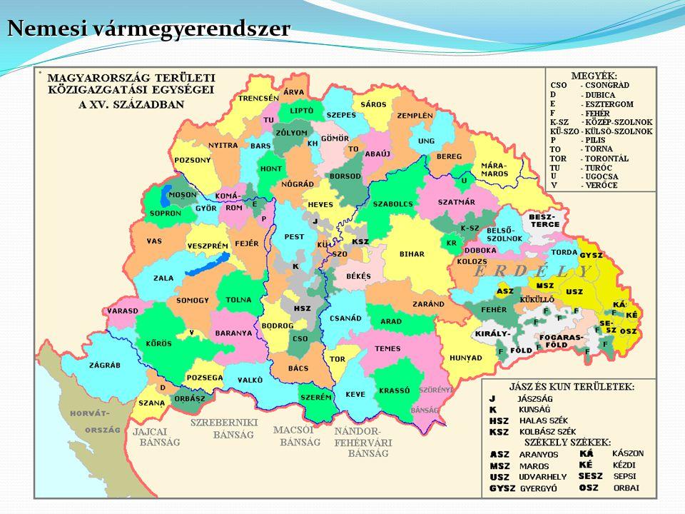 Nemesi vármegyerendszer
