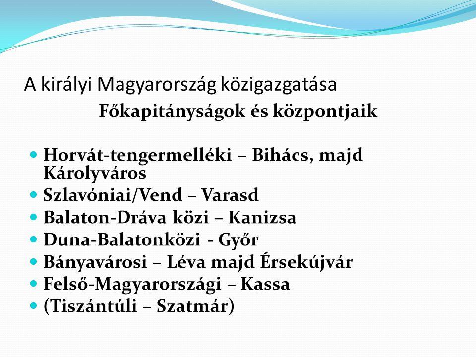 A királyi Magyarország közigazgatása