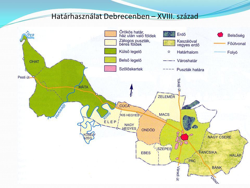 Határhasználat Debrecenben – XVIII. század