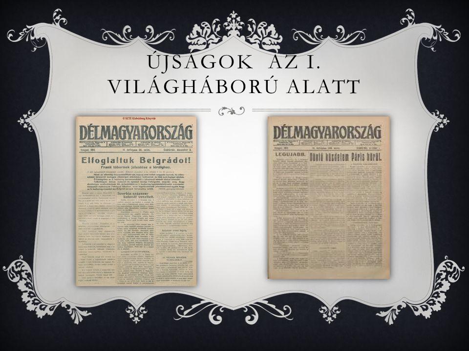 Újságok az i. világháború alatt