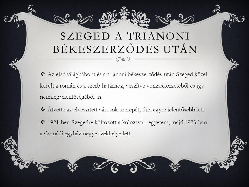 Szeged a trianoni békeszerződés után