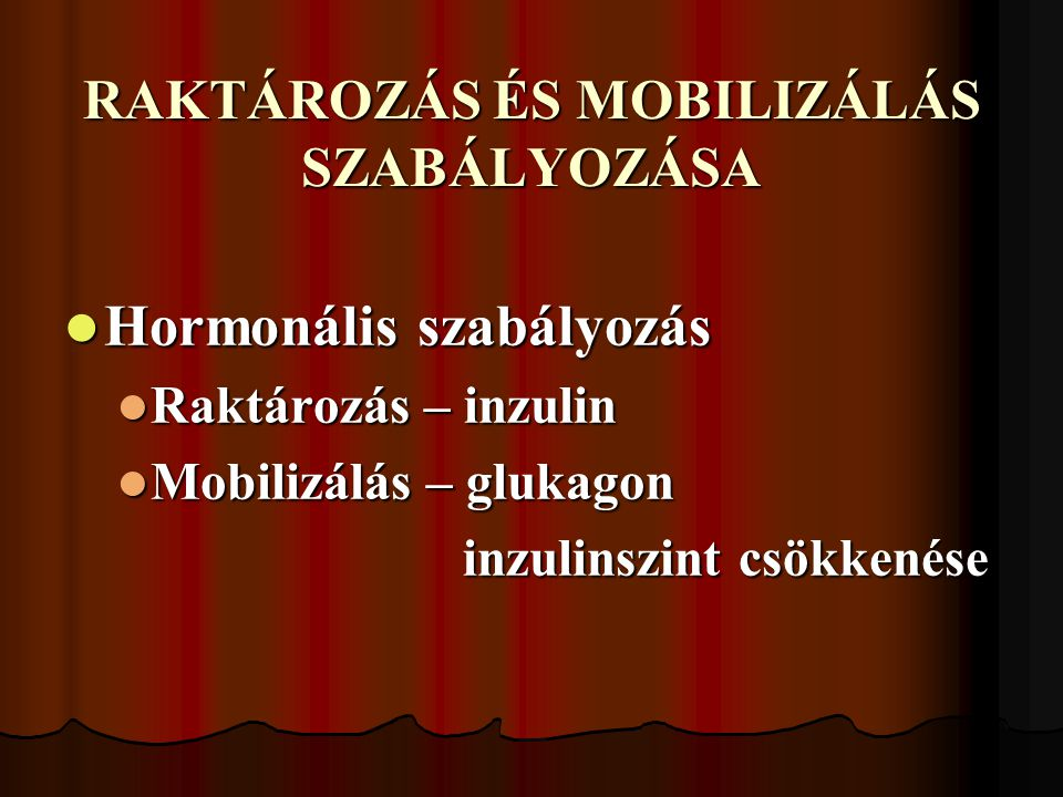 RAKTÁROZÁS ÉS MOBILIZÁLÁS SZABÁLYOZÁSA