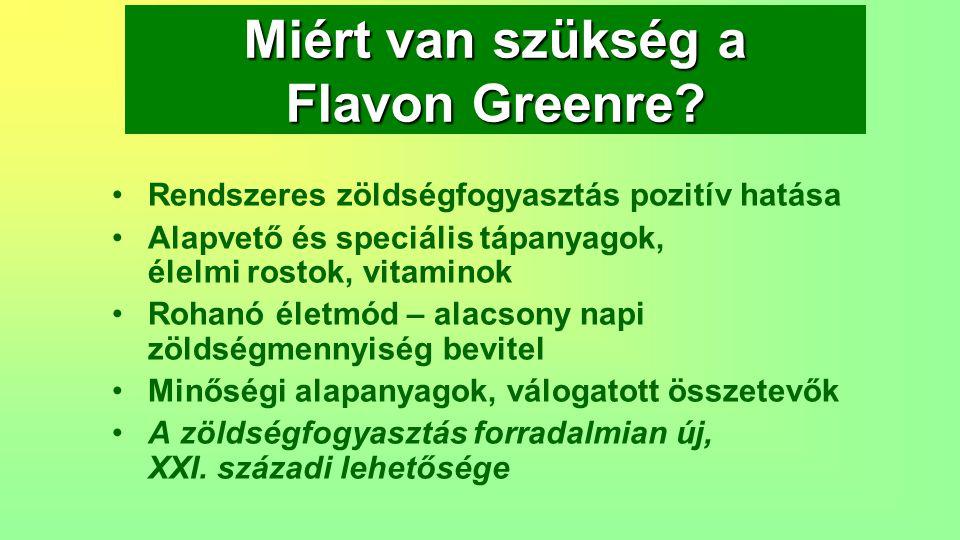 Miért van szükség a Flavon Greenre