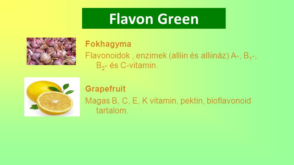 Flavon Green Fokhagyma