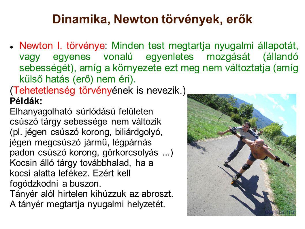 Dinamika, Newton törvények, erők