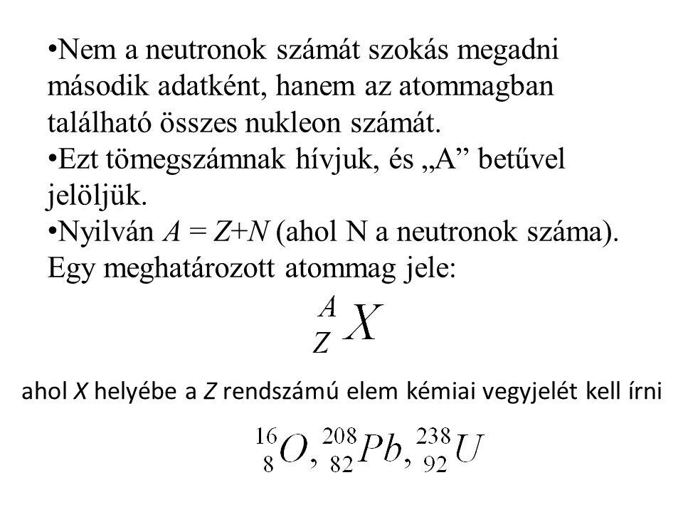 ahol X helyébe a Z rendszámú elem kémiai vegyjelét kell írni