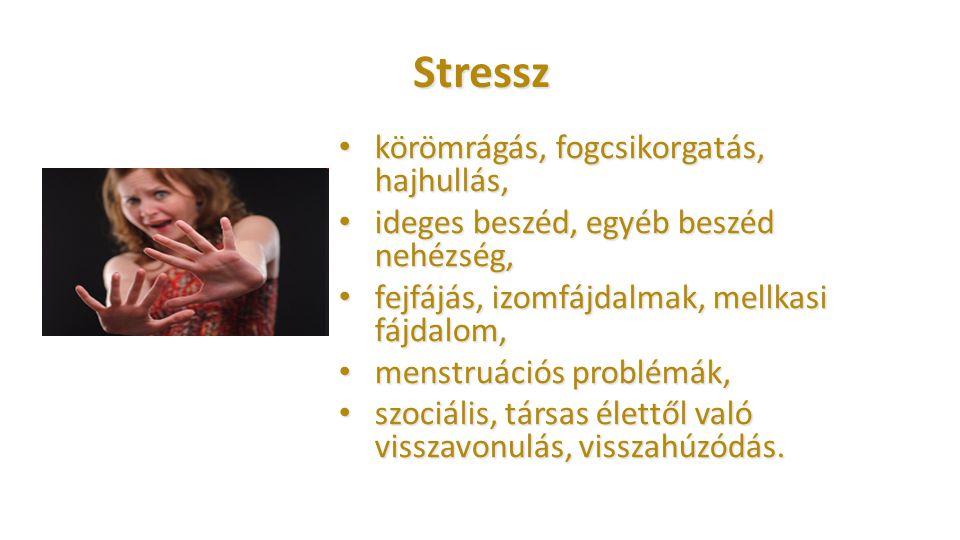 Stressz körömrágás, fogcsikorgatás, hajhullás,