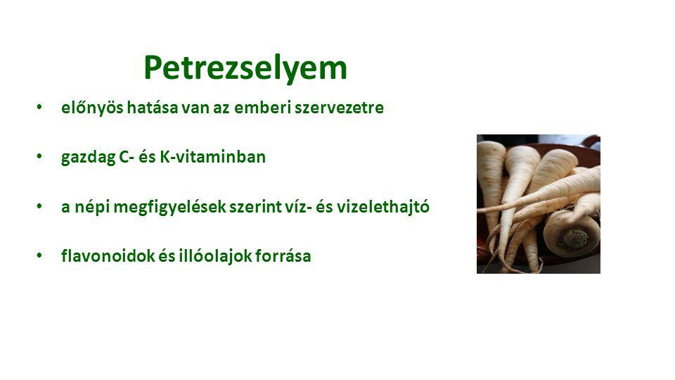 Petrezselyem előnyös hatása van az emberi szervezetre