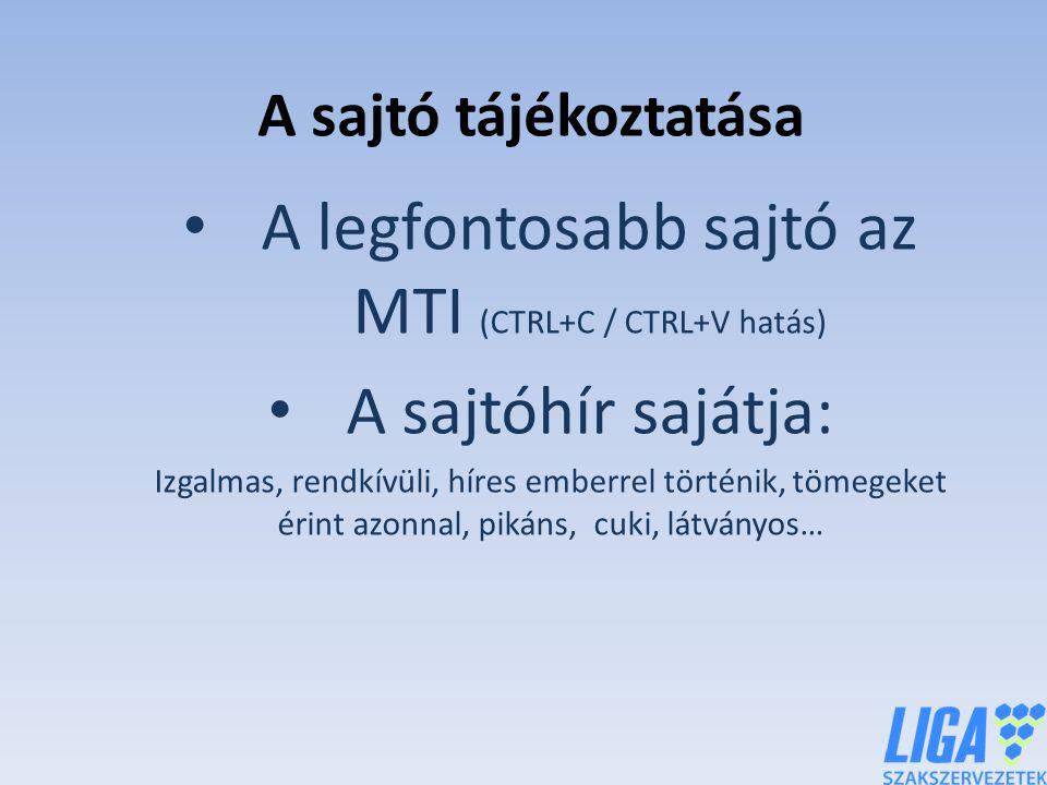 A legfontosabb sajtó az MTI (CTRL+C / CTRL+V hatás)