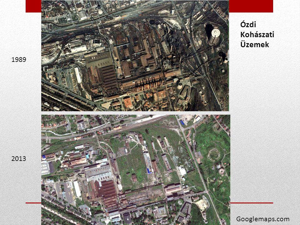 Ózdi Kohászati Üzemek 1989 2013 Googlemaps.com