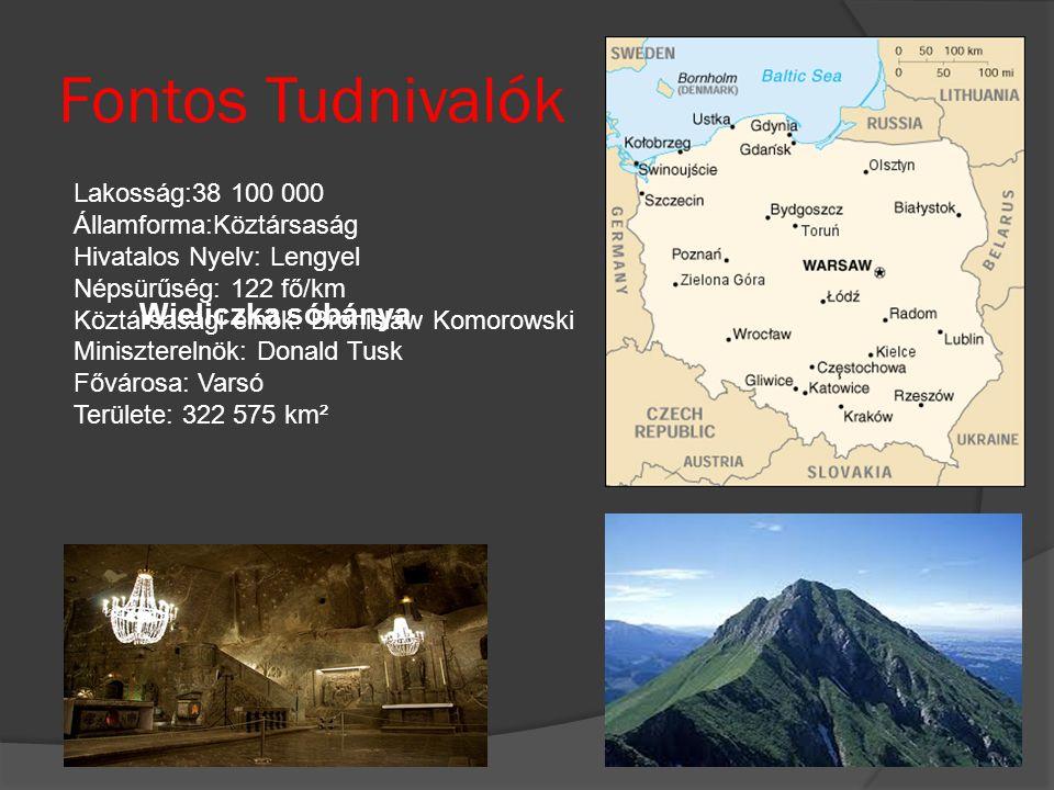 Fontos Tudnivalók Wieliczka sóbánya Lakosság:38 100 000