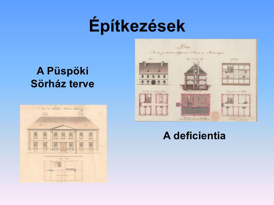 Építkezések A Püspöki Sörház terve A deficientia