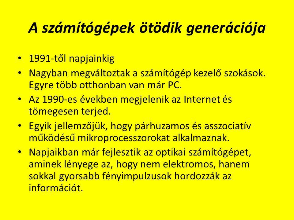 A számítógépek ötödik generációja