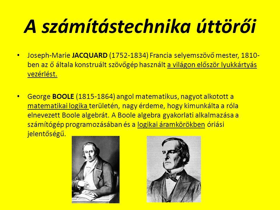 A számítástechnika úttörői