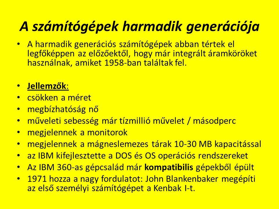 A számítógépek harmadik generációja