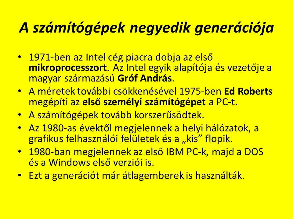 A számítógépek negyedik generációja