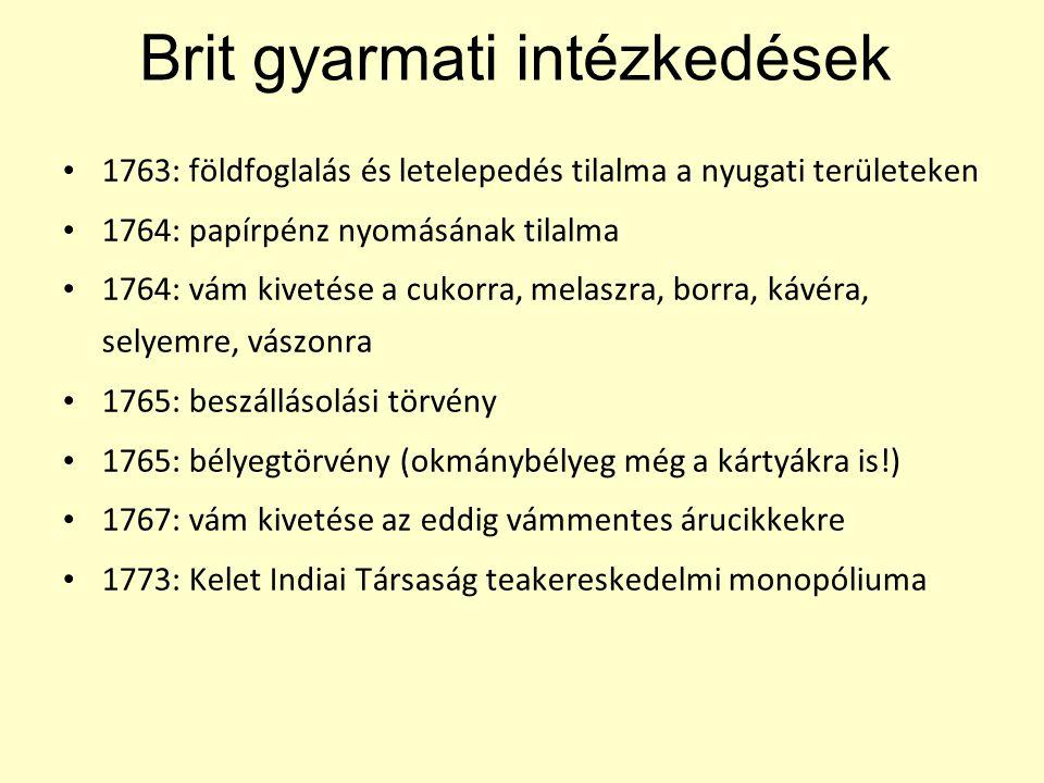 Brit gyarmati intézkedések