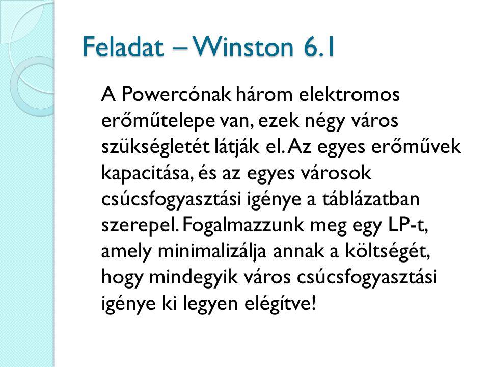 Feladat – Winston 6.1