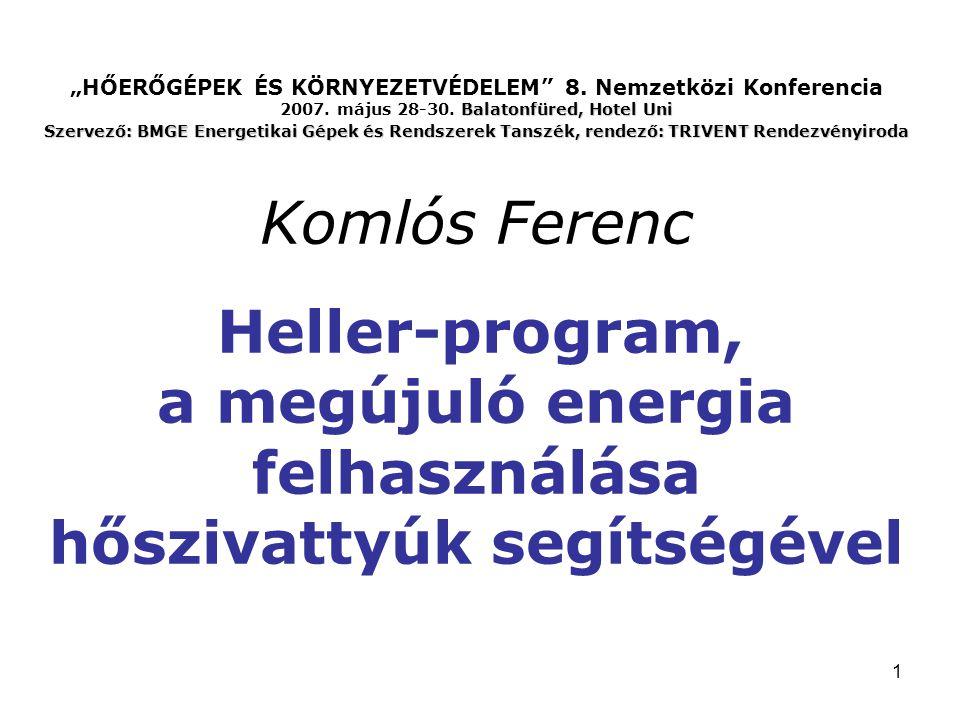 """""""HŐERŐGÉPEK ÉS KÖRNYEZETVÉDELEM 8. Nemzetközi Konferencia 2007"""