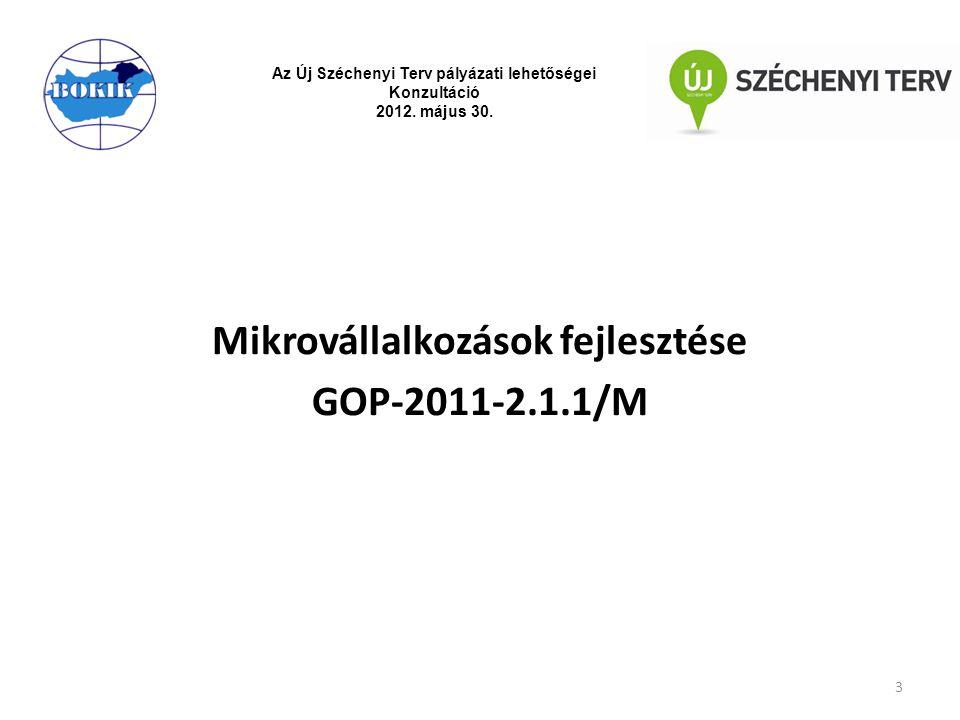 Mikrovállalkozások fejlesztése GOP-2011-2.1.1/M