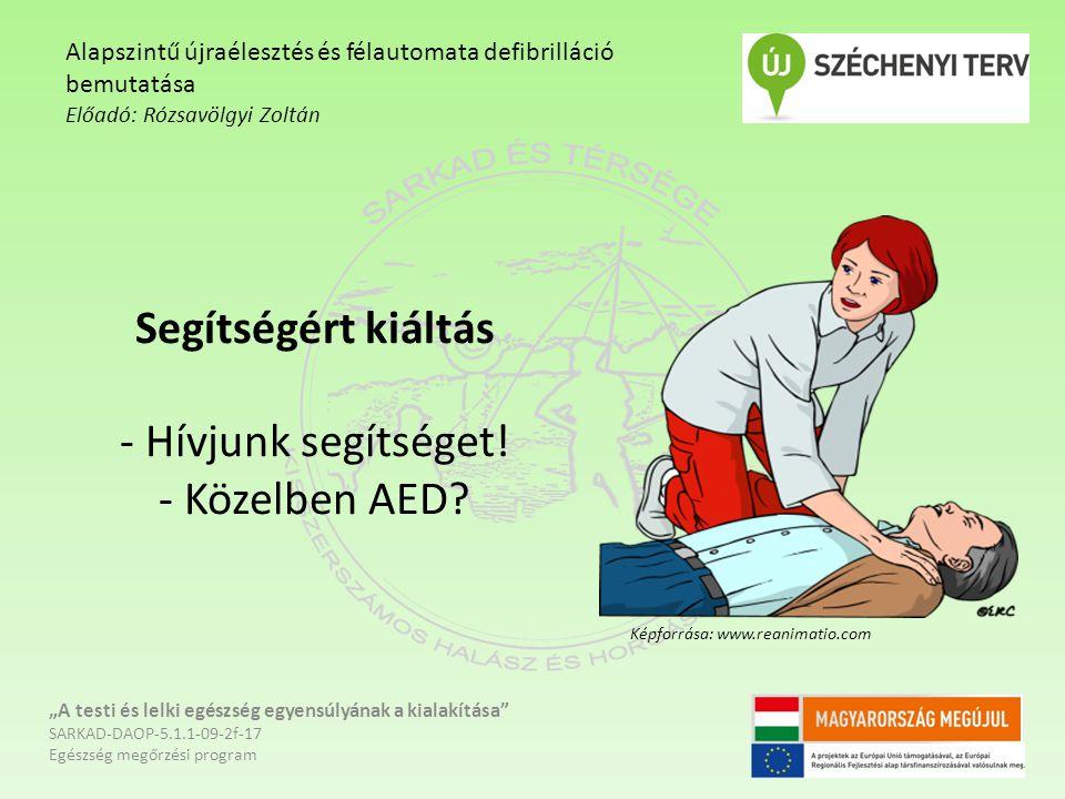 Segítségért kiáltás - Hívjunk segítséget! - Közelben AED