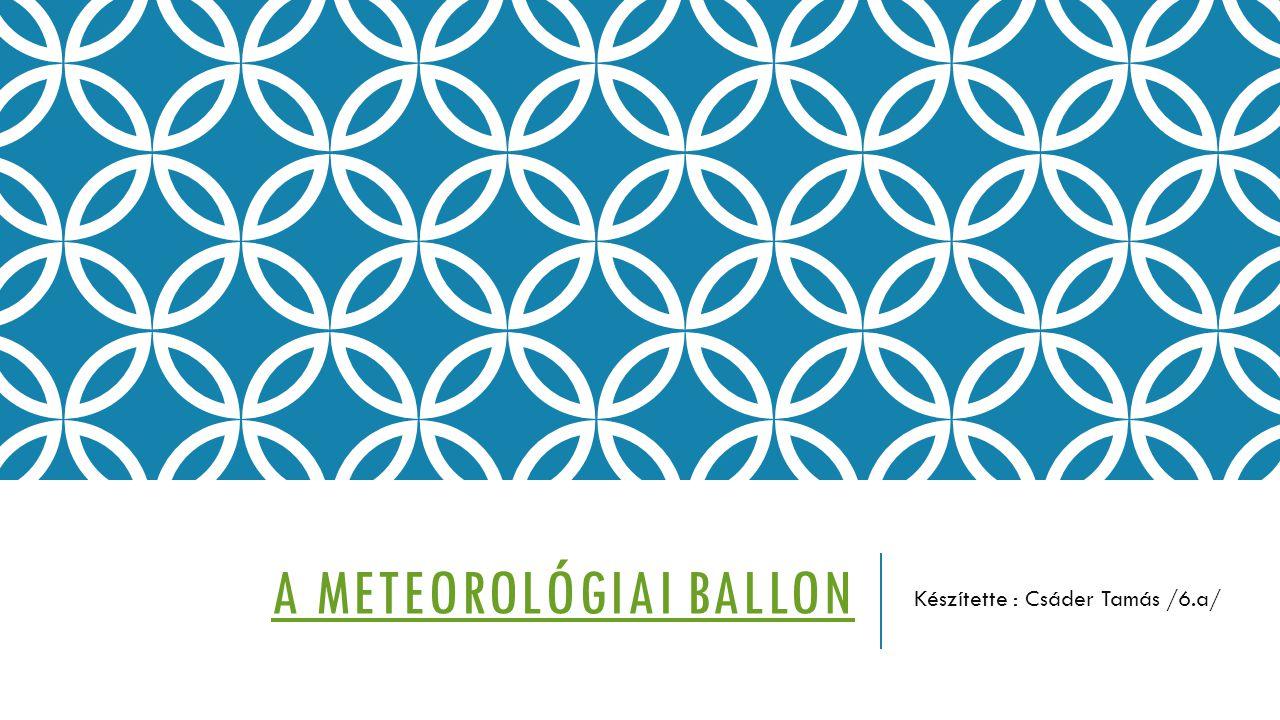 A meteorológiai ballon