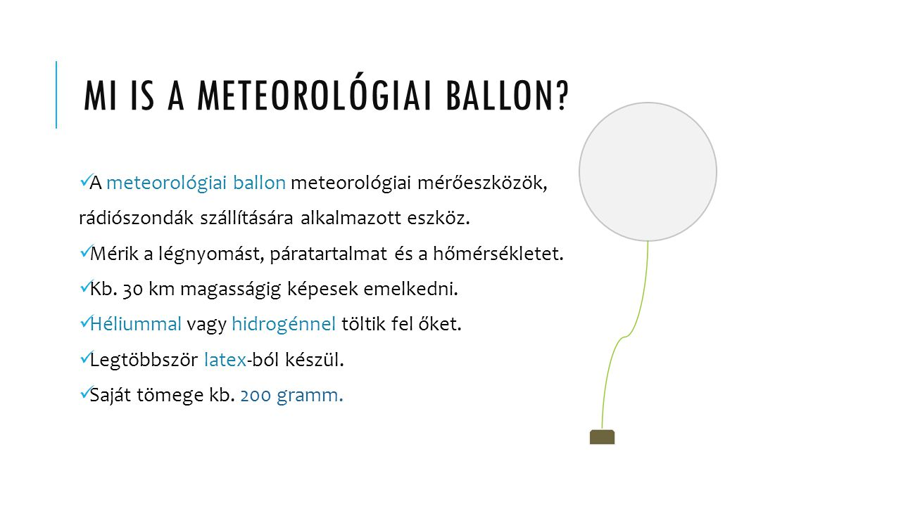 Mi is a meteorológiai ballon