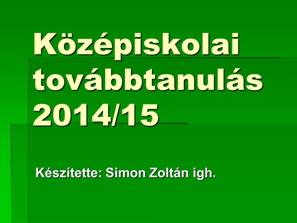 Középiskolai továbbtanulás 2014/15