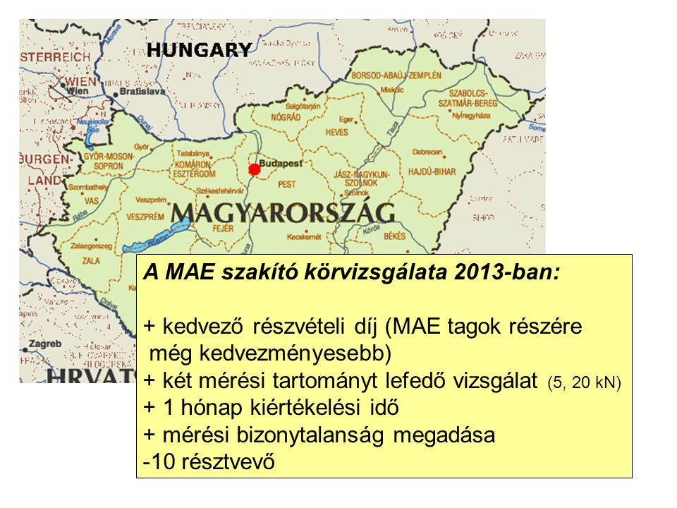 A MAE szakító körvizsgálata 2013-ban: