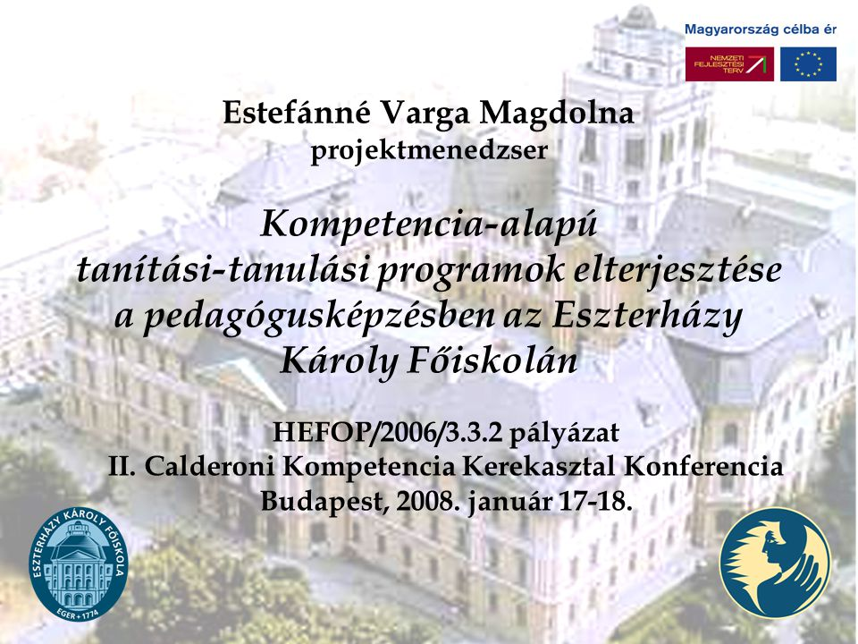 II. Calderoni Kompetencia Kerekasztal Konferencia