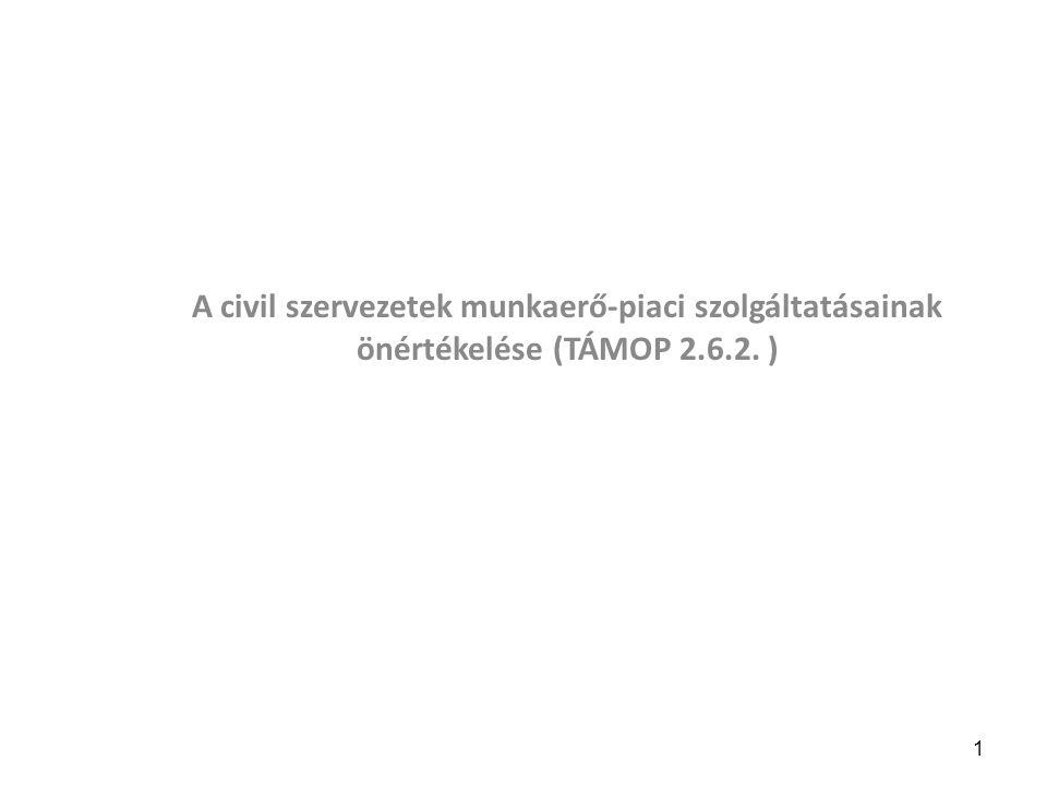 A civil szervezetek munkaerő-piaci szolgáltatásainak önértékelése (TÁMOP 2.6.2. )